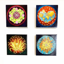 Painted Mandalas and Other Paintings
