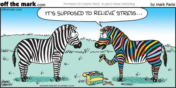 It's Supposed to Relieve Stress Cartoon