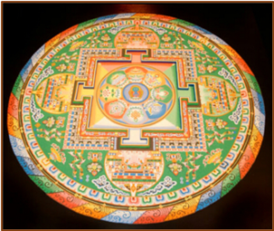 Tibetan Mandala Sand Painting